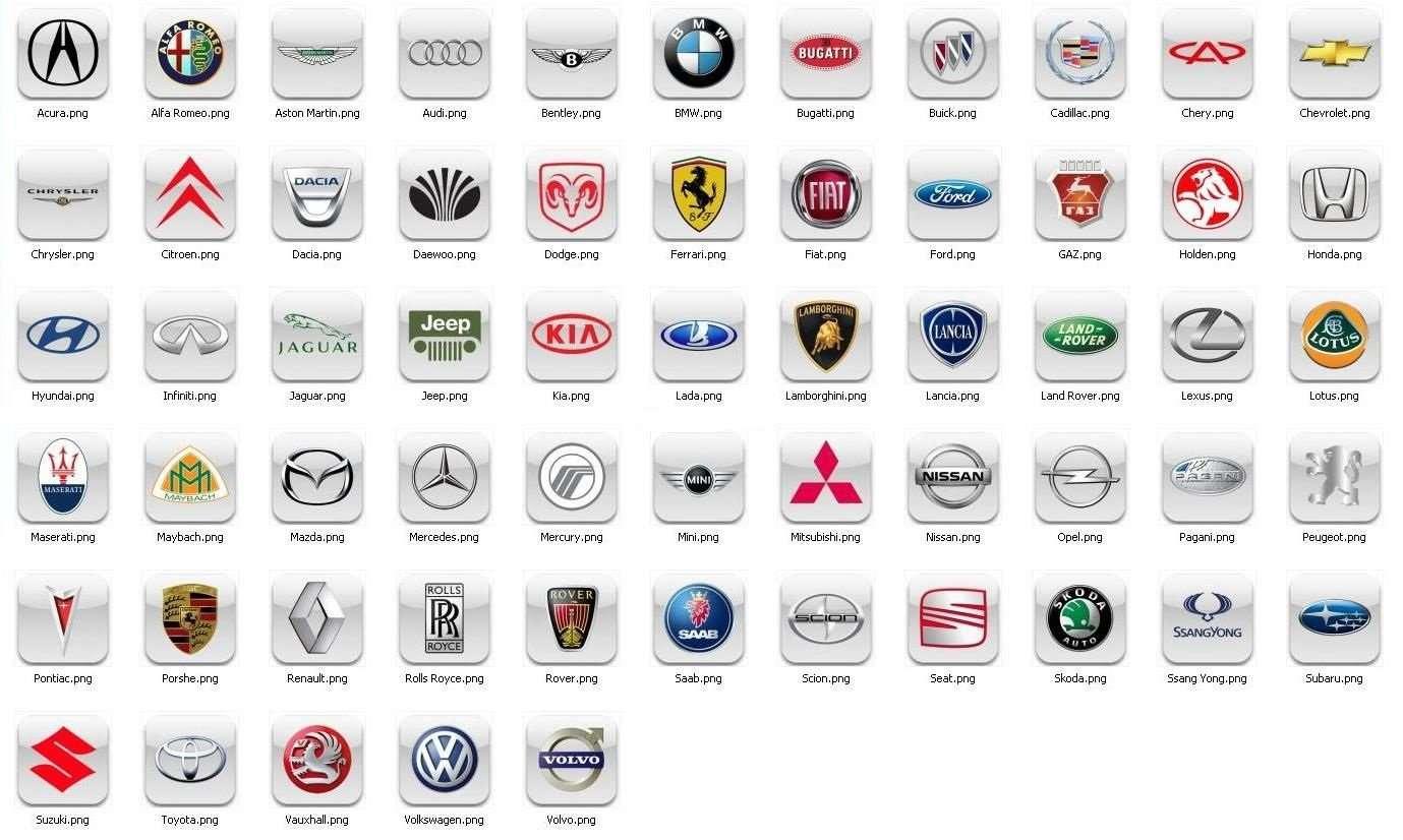 эмблемы автомобилей с названием